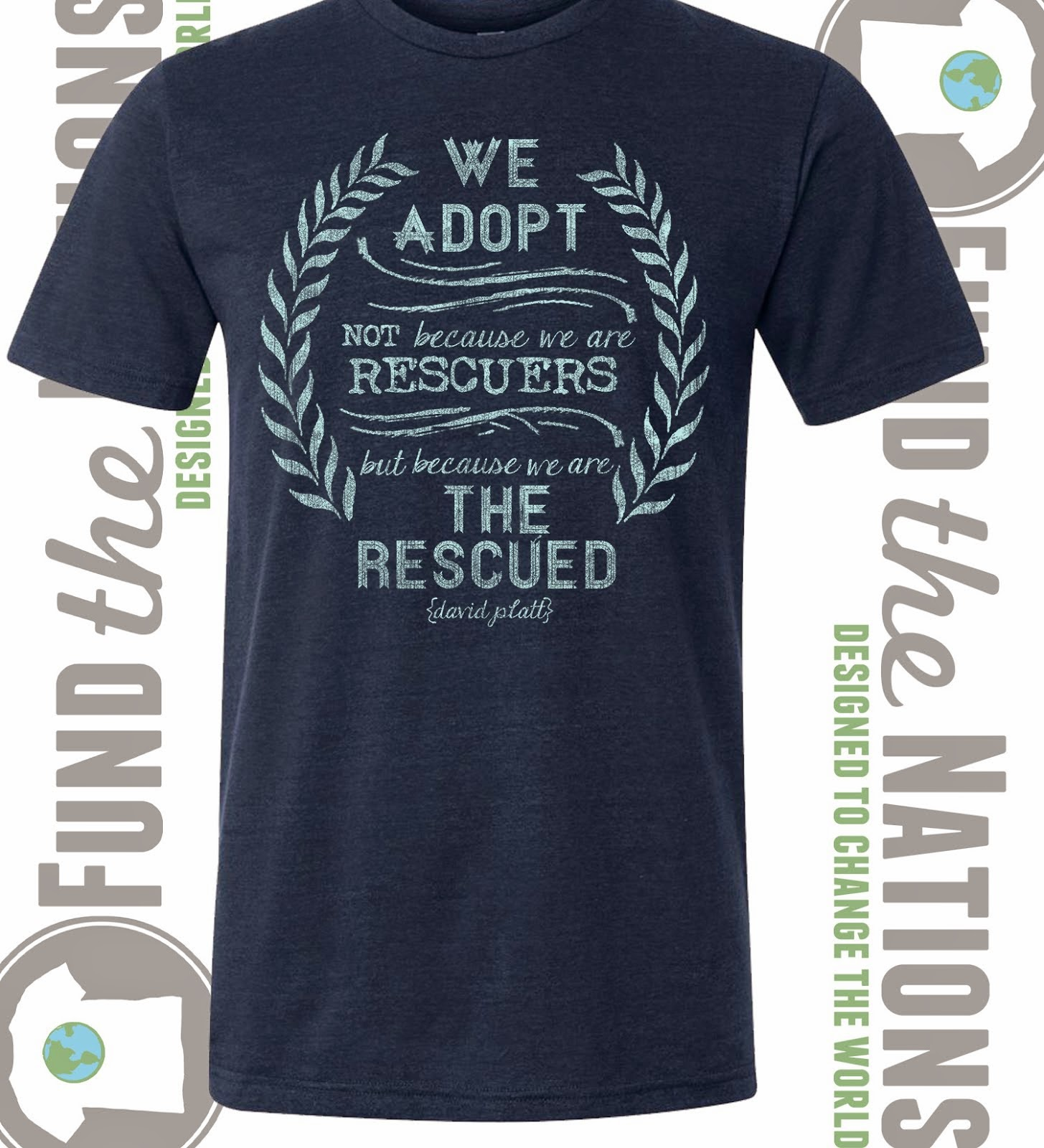 """The Rescued"" Navy Triblend T-Shirt"