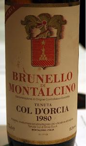 BRUNELLO COL Di'ORCIA 1980