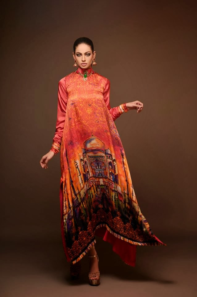 Women's Wear Winter Dresses Collection 2013-2014 By Hadiqa Kiani