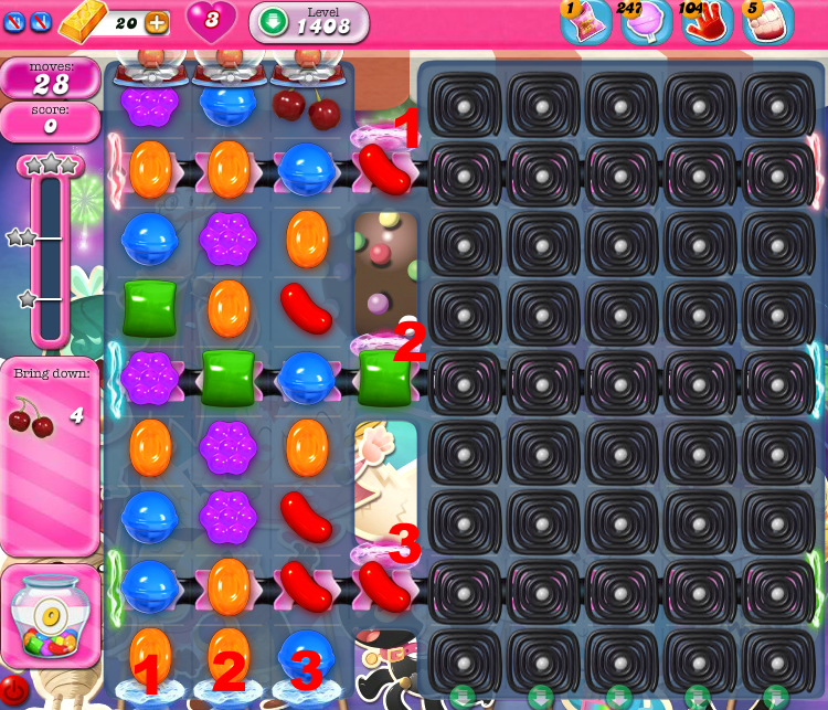 Candy Crush Saga 1408