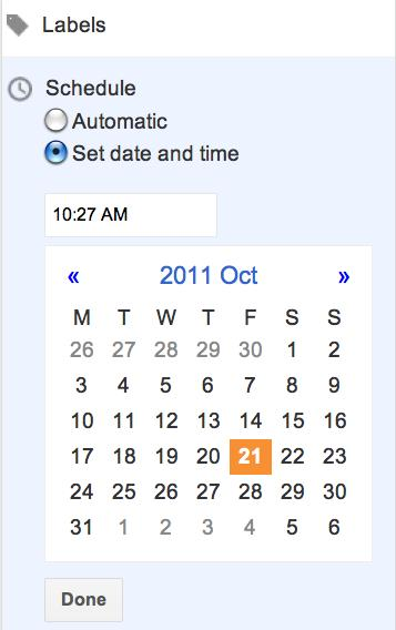 Schedule Blogger Posts Date Time