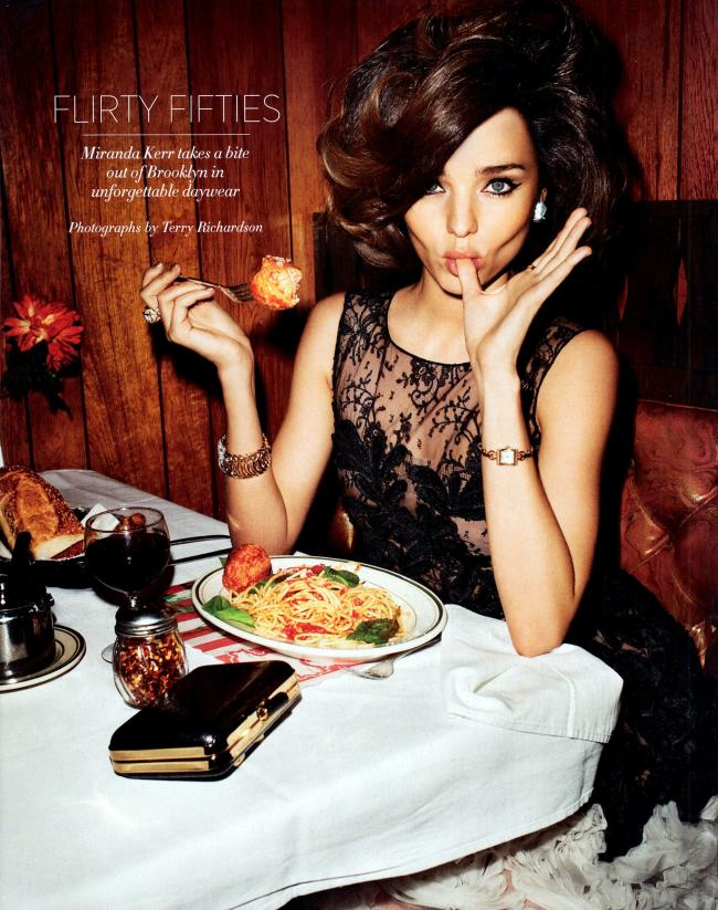 Miranda Kerr is a 50s Sex Bomb for US Harper's Bazaar April 2012