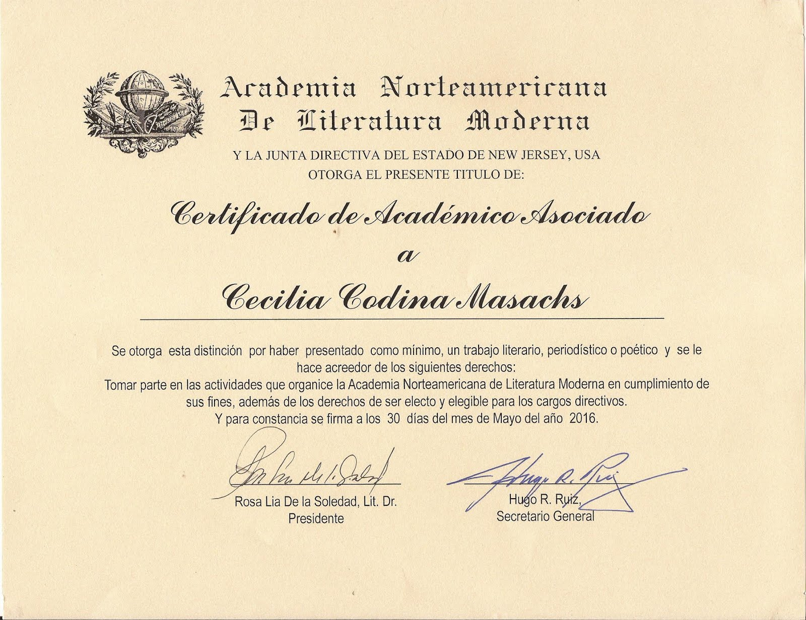 ACADEMIA NORTEAMERICANA DE LA LITERATURA MODERNA