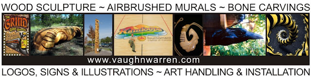 Visit our logo designer extraordinaire, Vaughn Warren