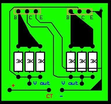 Menaikan Tegangan dengan transistor dan trafo ~ Haryo Toms