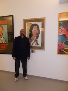 Andy Warhol Exhibition :- In front of the portrait of Mick.Jagger.