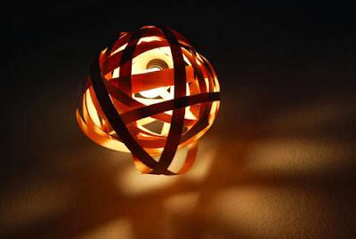 luminaire en bois facile à réaliser, fait main, DIY