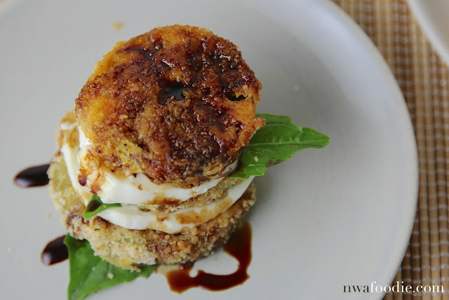 #denigris1889 Fried green tomato caprese salad - stacked (c)nwafoodie