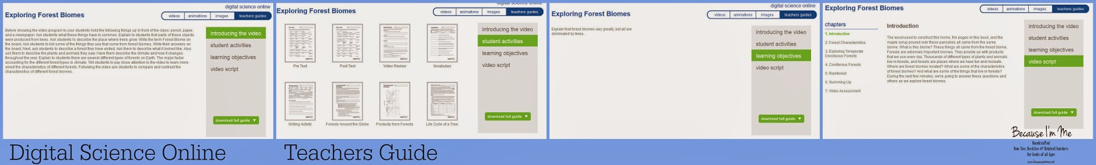 Digital Science Online Review for elementary through high school
