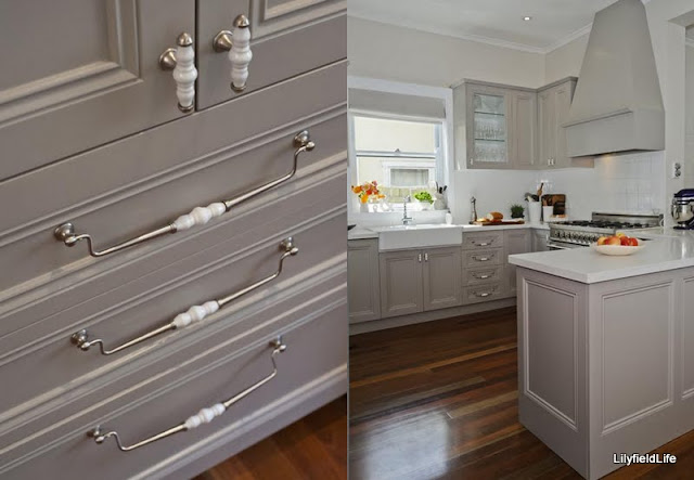 French Provincial Kitchen easily achieved by adding painted moulded doors to cabinetry