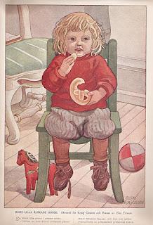 Mors lilla älskade gosse. Akvarell för Kring Granen och Brasan av Elsa Ericson