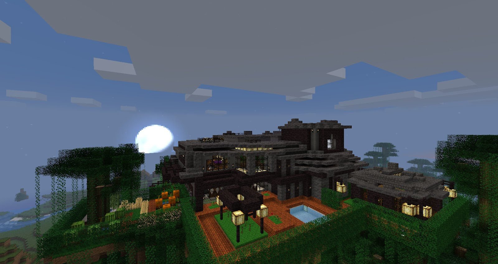 My minecraft constructions minecraft luxury mountain house for House on a mountain