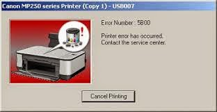 Cara Reset Printer Canon MP258 Error 5B00 atau P07