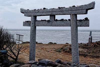 角島 夢崎明神の鳥居