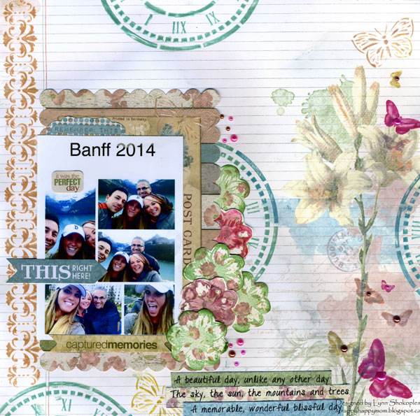 Banff layout by Lynn Shokoples for BoBunny featuring the Garden Journal Collection