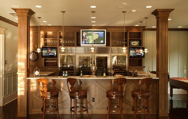 Designing Basement Bar Idea