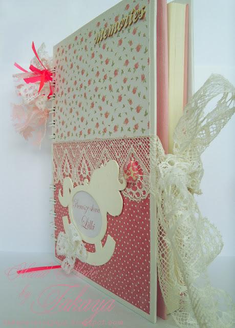 słodki notes; różowy notesik; notes dziecka