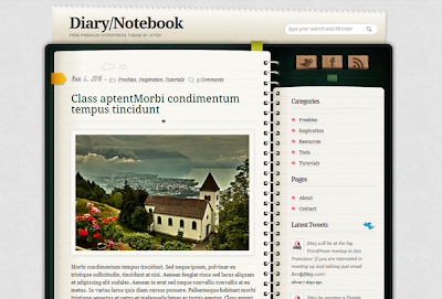 Diary Wordpress Theme
