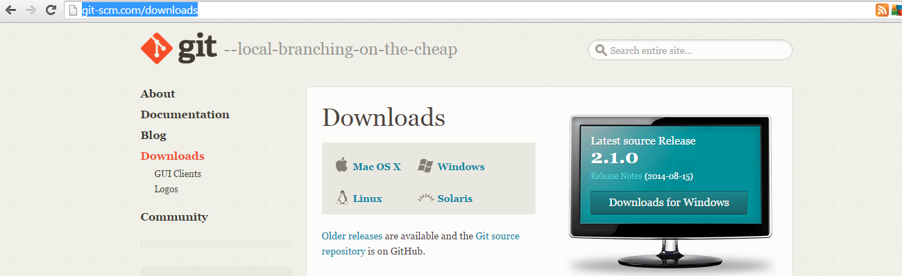Download git for windows