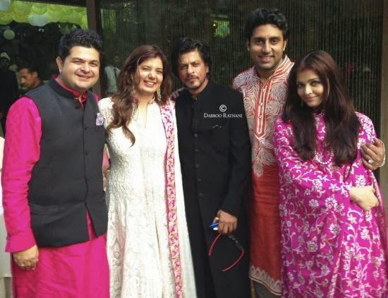 Shahrukh Khan, Aishwarya Rai, Abhishek bachchan spotted together