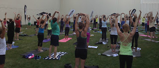 Muscle Milk Light yoga in the park