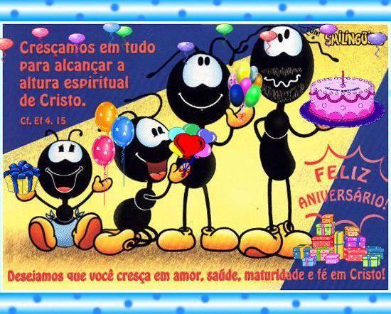 Cristo feliz aniversario