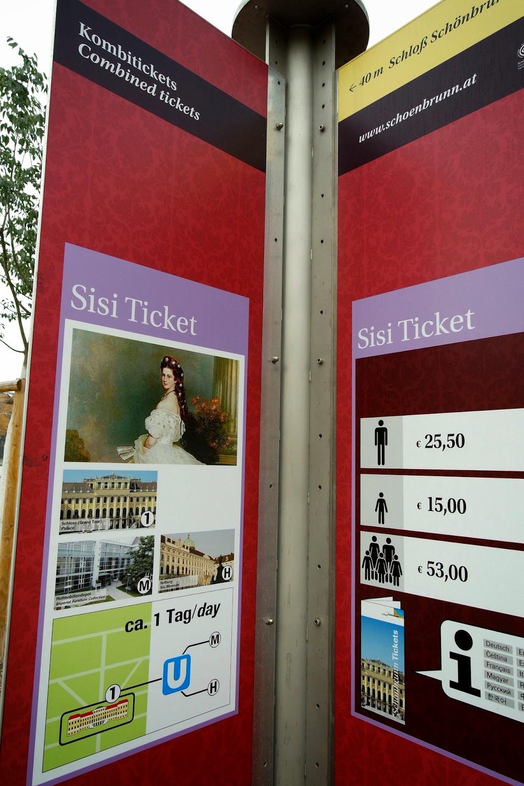 Ticket Price for Schonbrunn Palace Vienna Austria