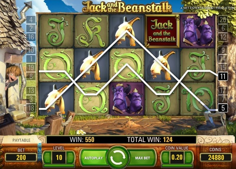 Jack and the Beanstalk Video Slot Screen