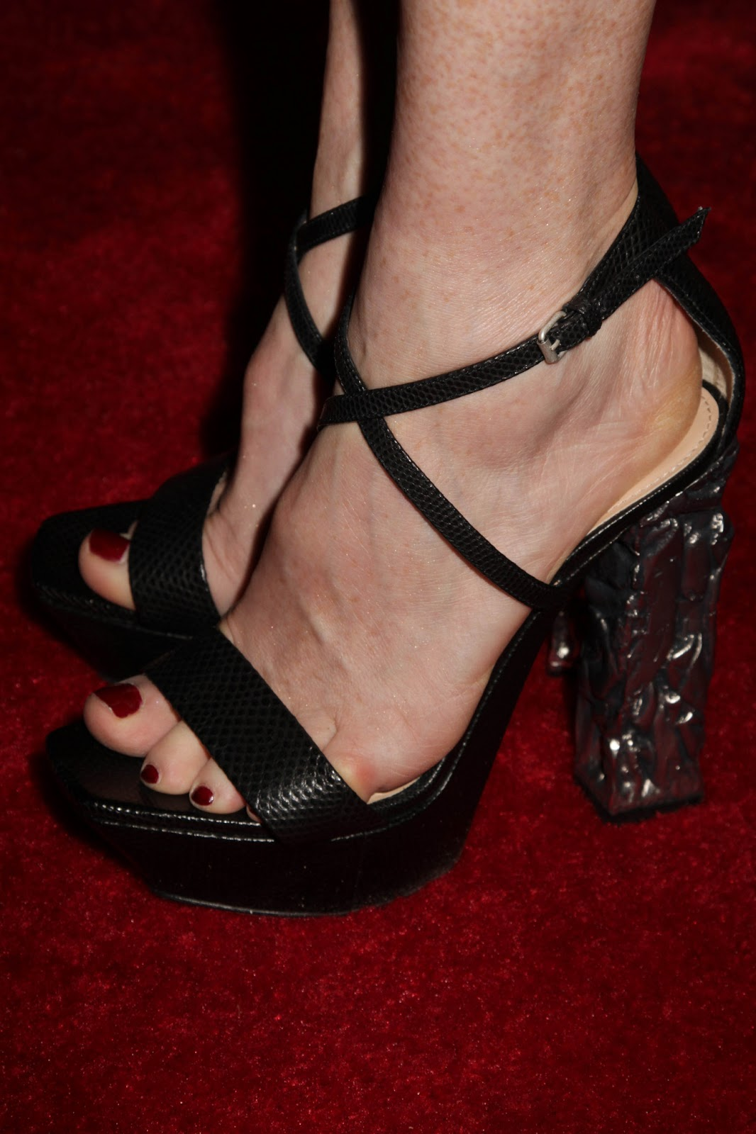Celebrity Feet Close-up: Julianne Moore Feet