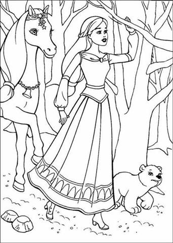 barbie and the magic pegasus coloring pages