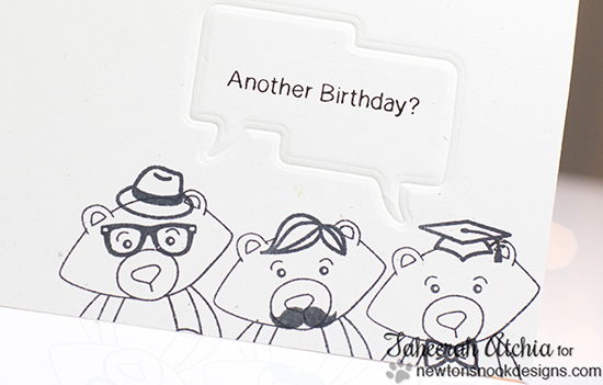 Winston Birthday Card by Taheerah Atchia for Newton's Nook Designs