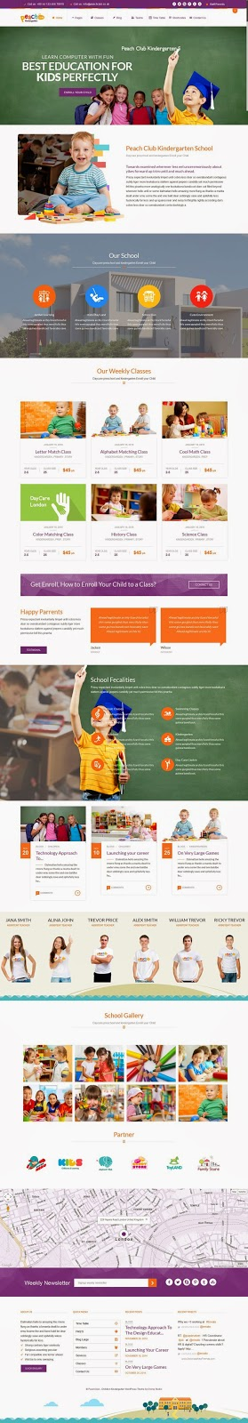 Best Kindergarten ChildCare WordPress Theme