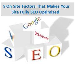 5 On Site SEO Factors, Fully SEO Optimized
