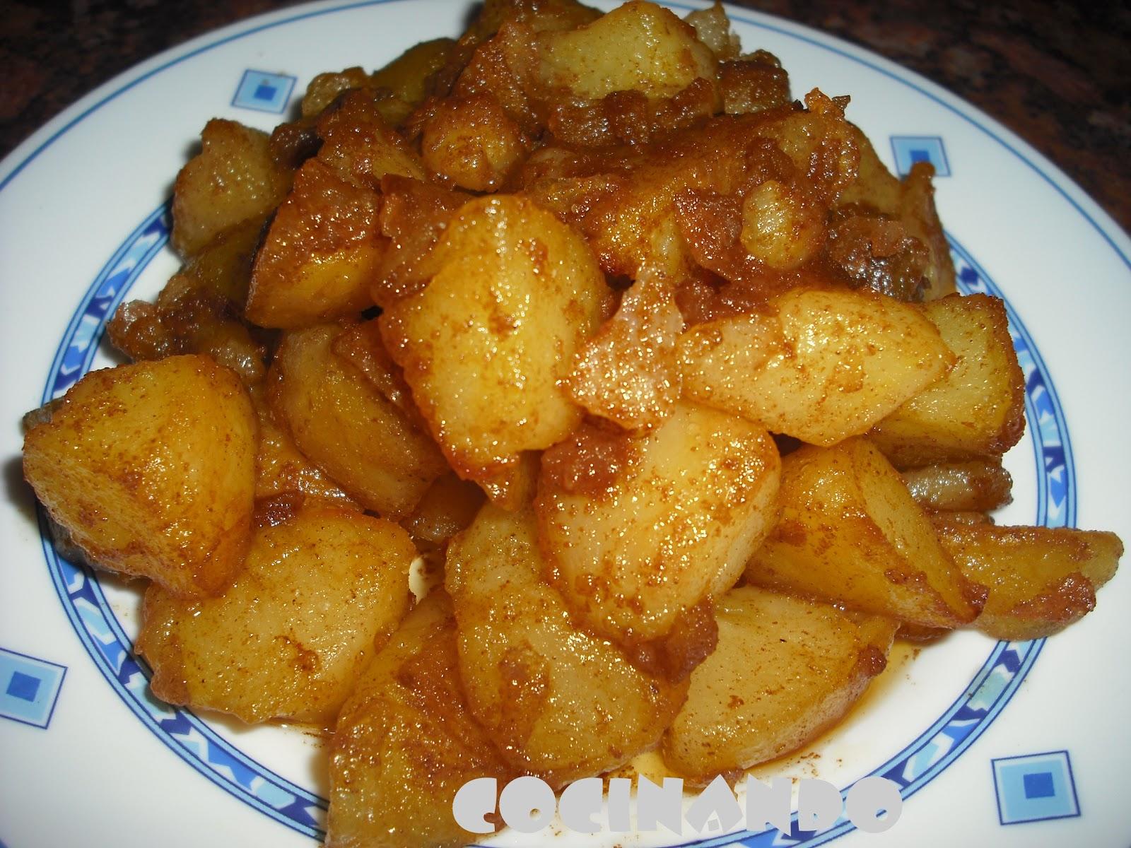 las patatas bravas denominadas también como patatas a la brava o ...