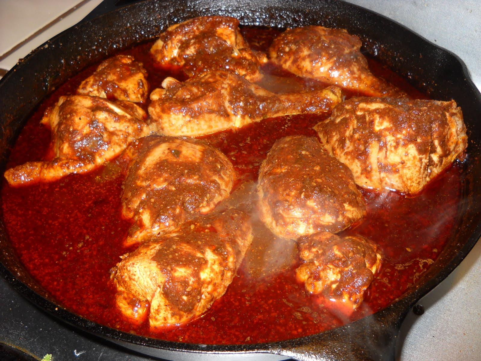 Jamón Central: Pollo en pipián rojo (Chicken in Red Sesame ...