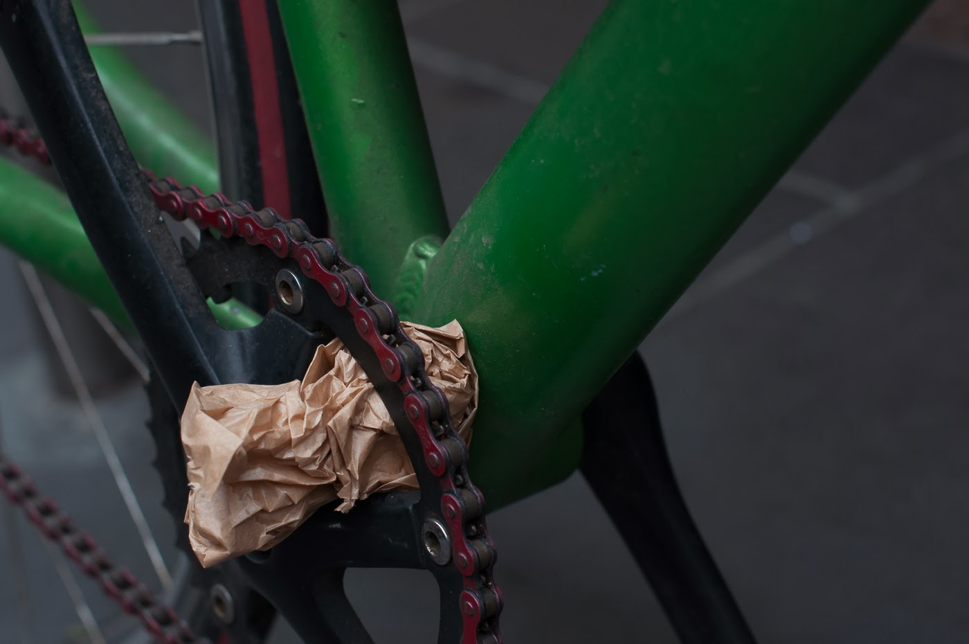 single speed, bike, bicycle, tim macauley, the biketorialist, melbourne, conversion, chain, tensioner road bike, crank