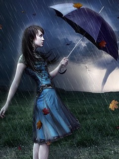 Romantic Love Quotes: Beautiful Girl In Rain Wallpaper: