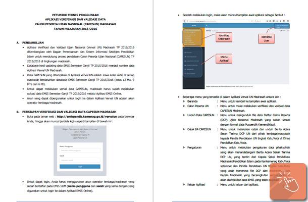 Juknis Penggunaan Aplikasi Verval UN Madrasah 2015-2016
