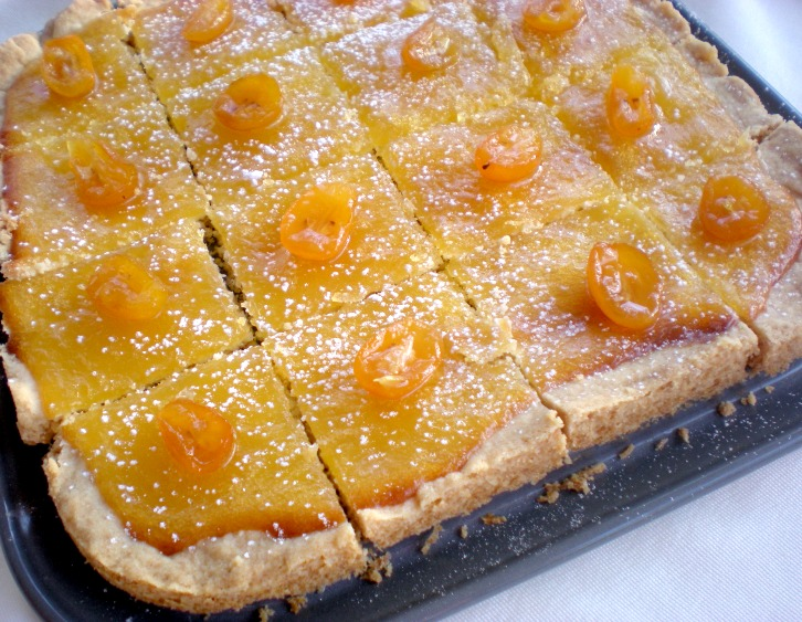 ... Cook and Her Books: Meyer lemon shortbread bars with candied kumquats