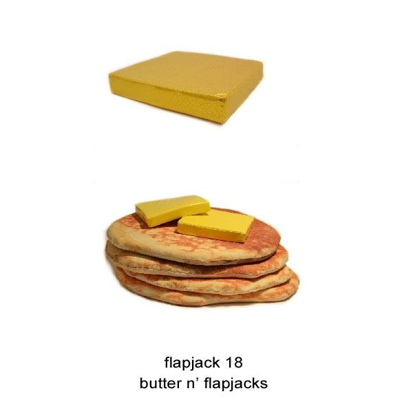Todd Von Bastiaans Pancake Floor Pillows : Super Punch: Stack of pancakes floor pillows