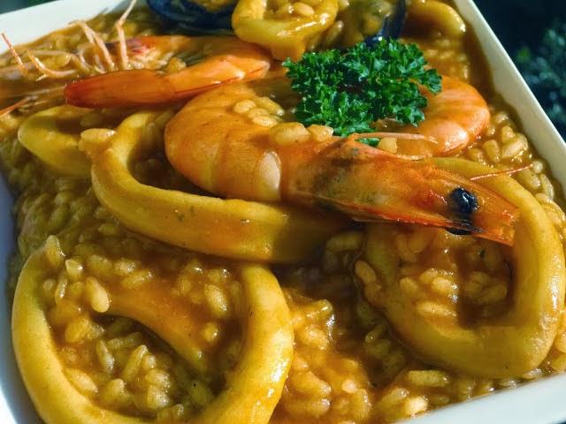 Arroz caldoso con calamares Ana Sevilla