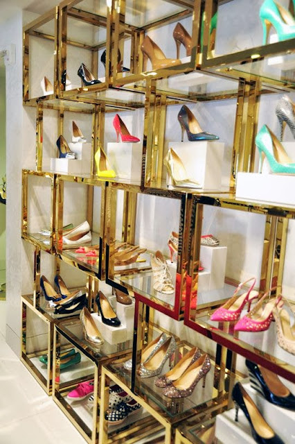 Kate Spade New York awesome new store, shoes storage