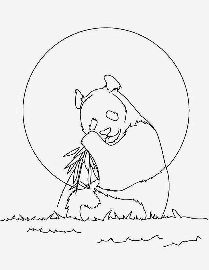 Dibujos para Colorear: Pandas