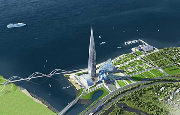 Gazprom Skyscraper Distorts Project