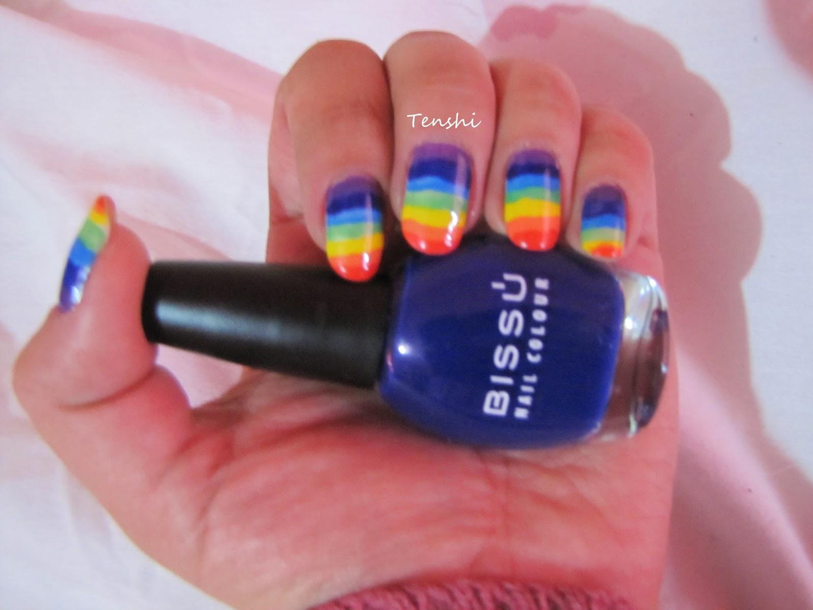 Nails by Tenshi: 31 días de uñas: Día 9, uñas arco iris