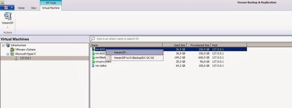 Как сделать резервную копию виртуальной машины hyper v