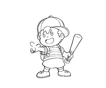 #6 Ness Coloring Page