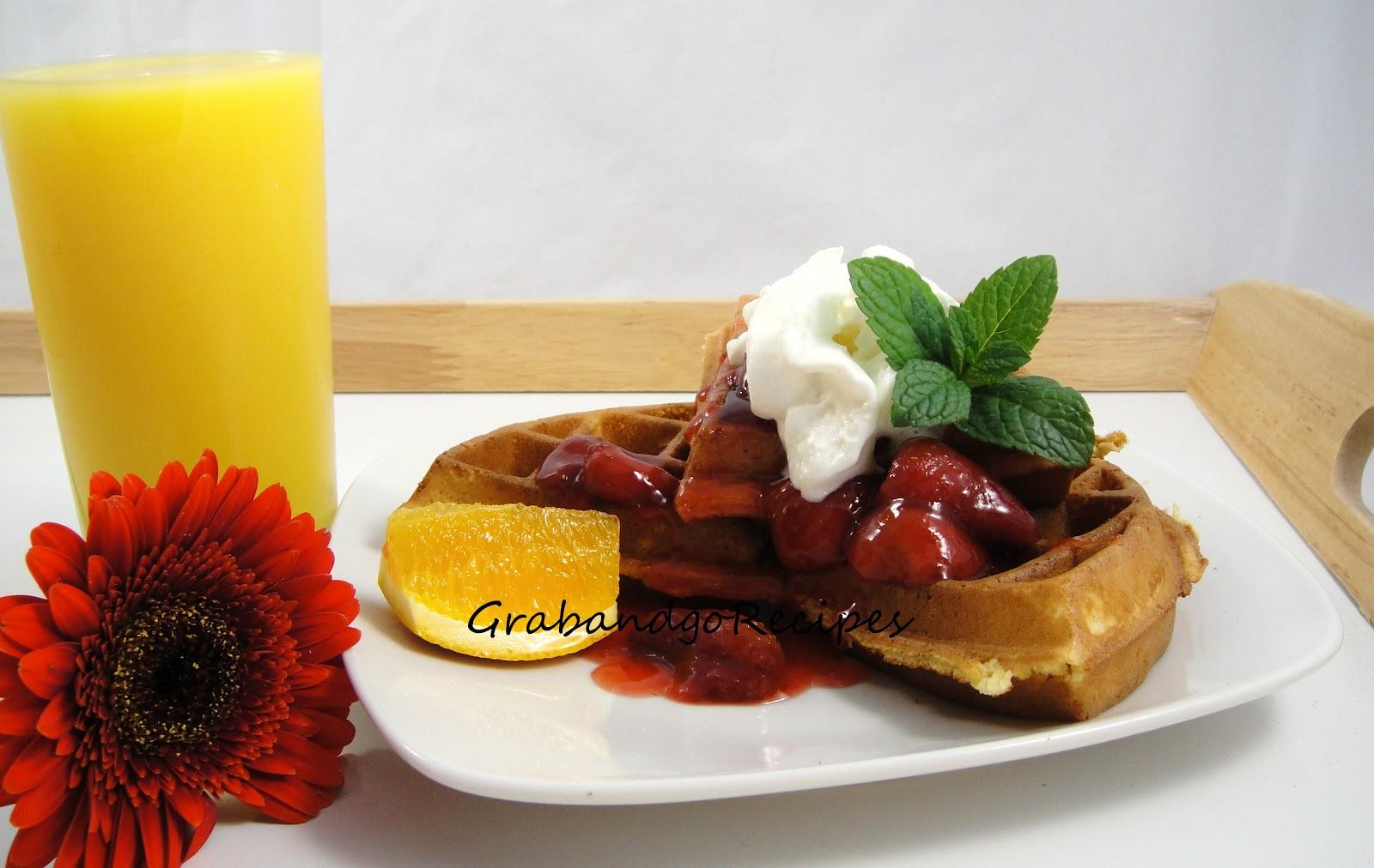 buttermilk waffle recipe with strawberry sauce grabandgorecipes