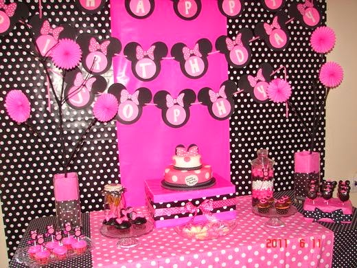 Minnie Decoraciones Para Fiestas ~ MIL ARTES MUJER FIESTA INFANTIL DECORACI?N MINNIE MOUSE