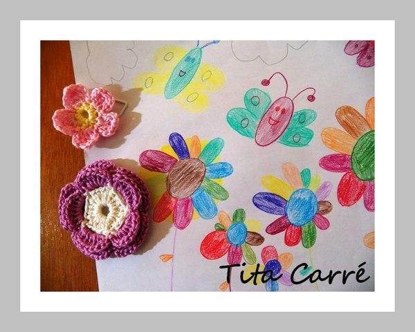 É crochet no Clipê com desenho infantil de Laura B